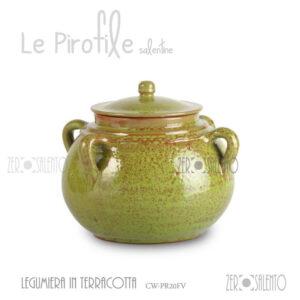 Legumiera-Terracotta-Pirofila-verde-CW-PR20FV-ceramica-Decape-shabby-chic