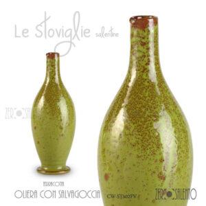 Oliera-con-alvagoccia-Verde-ST102FV-terracotta-arredo-cucina