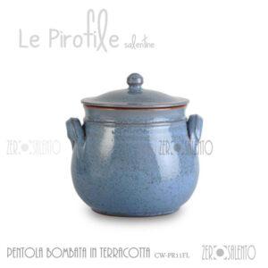Pentola-bombata-terracotta-Pirofile-CW-PR11FL-argilla-blu-salento-in-cucina