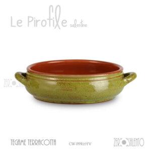 "Tegame basso in Terracotta finitura Decapè ""La Rucula"""