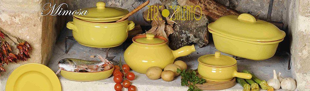 Banner Stoviglieria in Terracotta colore puro Giallo Mimosa