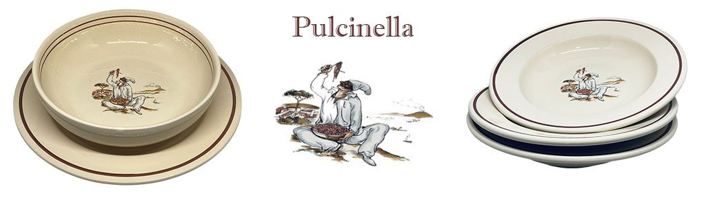 Banner stoviglieria decoro Pulcinella